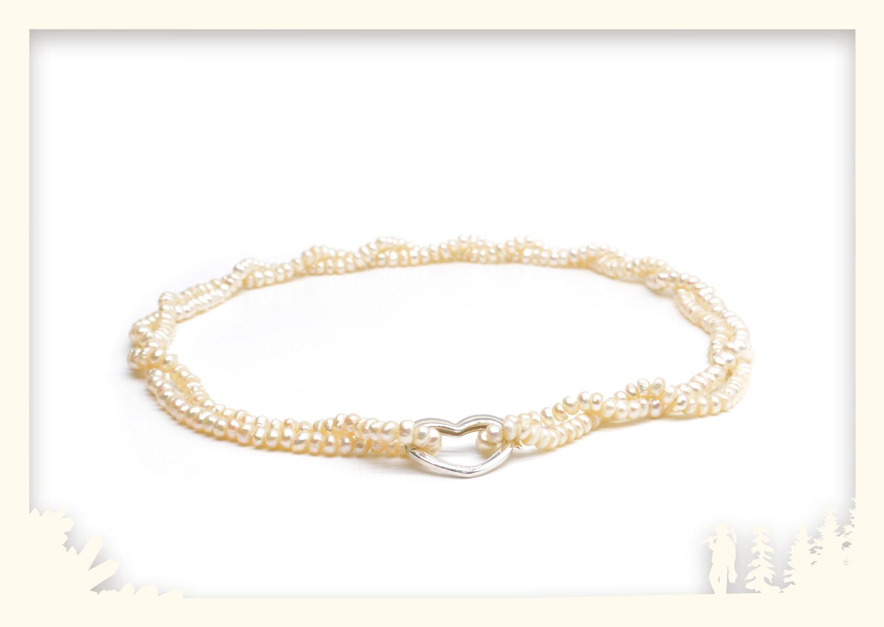 Perlenkette mit Herz Image