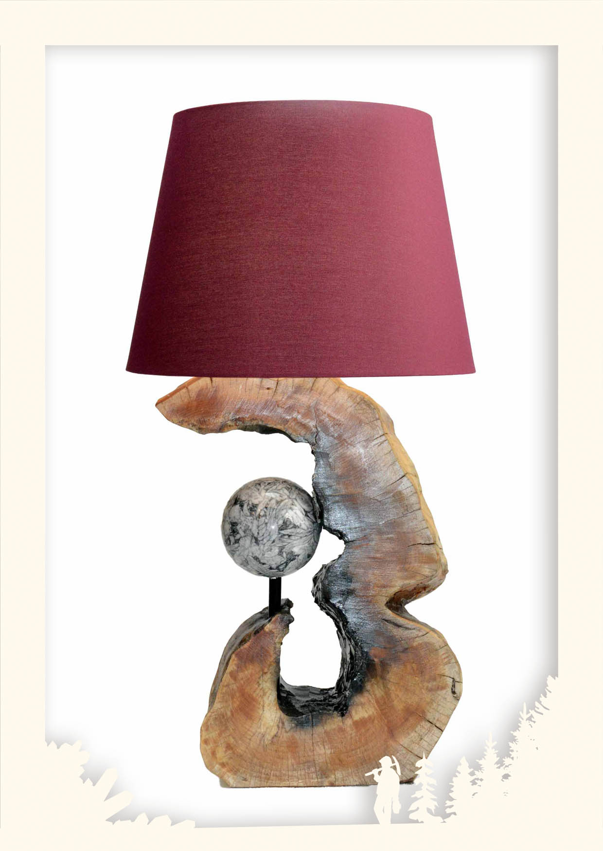 Lampen Holz & Stein Image