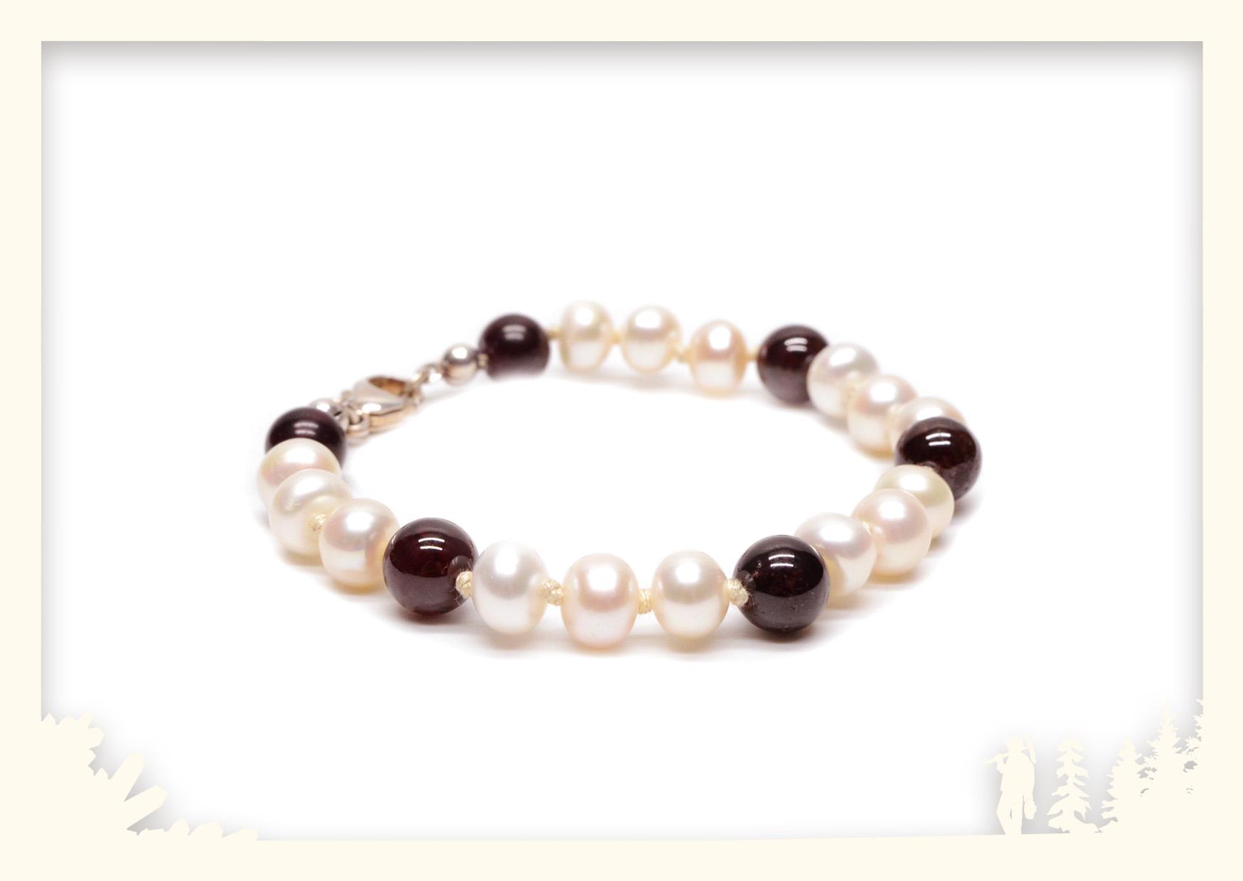 Kugelarmband Perle & Granat Image